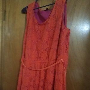 Beautiful orange and pink dress